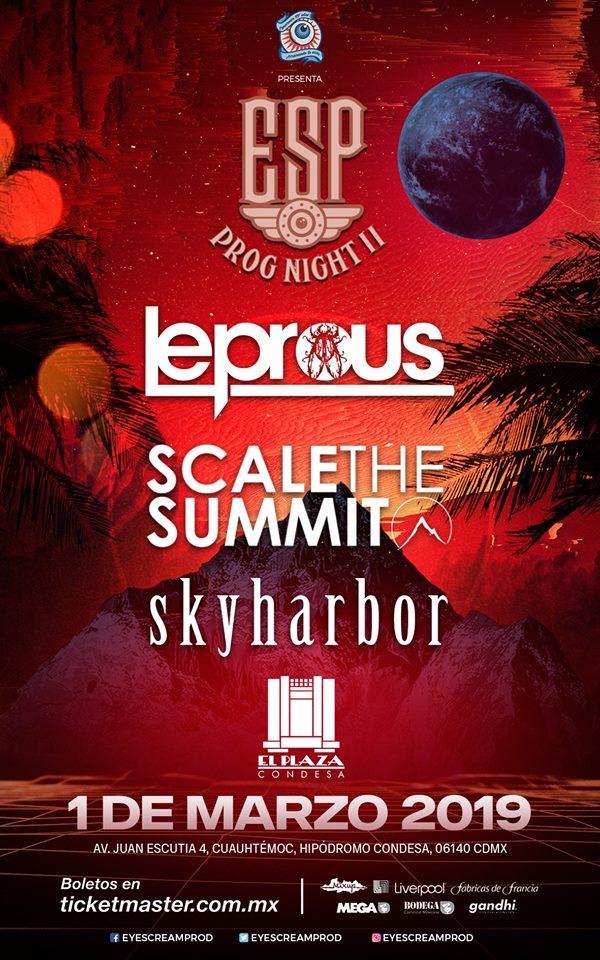 ESP Prog Night: Leprous / Scale The Summit / Skyharbor